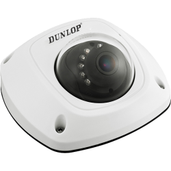 Dunlop - 4.0MP 4.0mm Lens 10 Mt. IR IP Dome Mobil Kamera