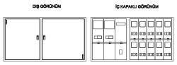 Çetinkaya - Çetinkaya 4 Monofaze 2 Trifaze Sıva Altı Sayaç Panosu Ip40/Çp 404