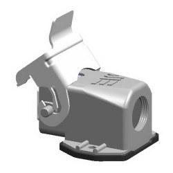 Mete Enerji - Mete Enerji 4x10a Alüminyum Eğik Makine Prizi Metal Mandallı (Kablo Geçişli) (Rakorsuz)/ 403003s