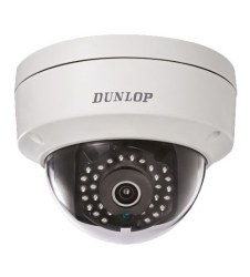 Dunlop - 5.0MP 4.0mm Lens 30 Mt. IR Dome IP Kamera