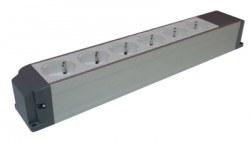 Çetinkaya - Çetinkaya 55x243x50 6 Modül Alüminyum Priz Blokları/Çp 8008