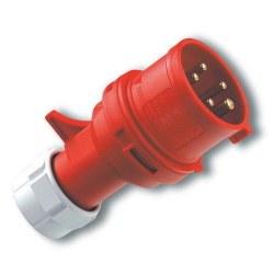 Mete Enerji - Mete Enerji 5x16a Ip44 Düz Fıs-(Vidalı Bağ)/ 406105v