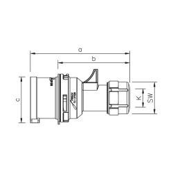 Mete Enerji 5x16a Ip44 Düz Fıs-(Vidalı Bağ)/ 406105v - Thumbnail