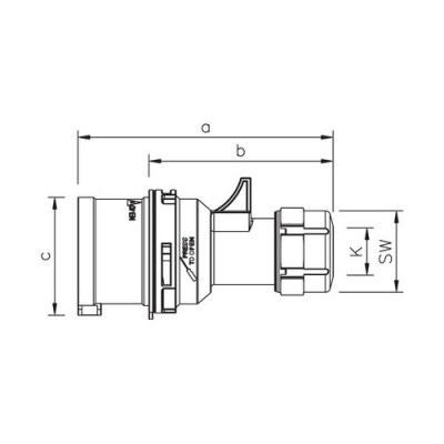 Mete Enerji 5x16a Ip44 Düz Fıs-Vidalı Bağ-406105v