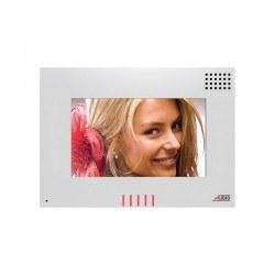 """Audio - Audio/ Bus Plus 7"""" Dokunmatik Ekranlı Handsfree Alarmlı Beyaz Diafon / Panel City Kameralı Dokunmatik Proxy Kartlı Zil Panelli Diafon Paketi"""