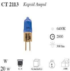 Cata - Cata / 20w Halojen Kapsül Ampul (Beyaz) / CT-2113