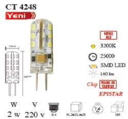 Cata - Cata / 2w LED'li Kapsül Ampul (Gün Işığı) / CT-4248G