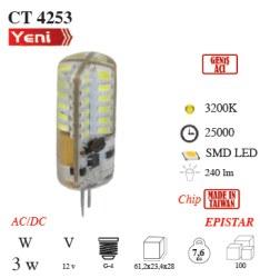 Cata - Cata / 3w LED'li Kapsül Ampul (Gün Işığı) / CT-4253G