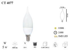 Cata - Cata / 5w LED'li Kıvrık Buji Ampul (Gün Işığı) / CT-4077G