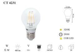 Cata - Cata / Edison 6w COB Led Ampul (E27 Duylu) / CT-4231G