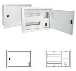 Çetinkaya - Çetinkaya / 1 Adet Monofaze Elektronik Sayaç + 3 Sigorta Sıvaaltı Dağıtım ve Sayaç Panosu/ ÇP 300 E