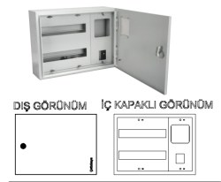 Çetinkaya - Çetinkaya / 1 Adet Monofaze Elektronik Sayaç + 3 Sigorta Sıvaüstü Dağıtım ve Sayaç Panosu / ÇP 300 SE