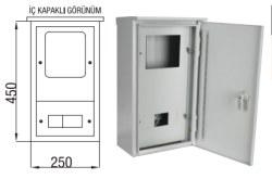 Çetinkaya - Çetinkaya / 1 Adet Trifaze Kolon Çıkışlı Çatılı Sıvaüstü Dağıtım ve Sayaç Panosu/ÇP 109