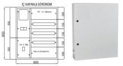 Çetinkaya - Çetinkaya / 1 Adet Trifaze Sayaç 7+60 Sigorta + 125A Kompakt Şalter Sıvaüstü Dağıtım ve Sayaç Panosu / ÇP 102 B