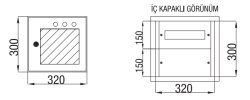 Çetinkaya - Çetinkaya / 12 Adet Sigorta + Pako Cam Kapaklı Sıvaaltı Dağıtım Panosu / ÇP 820 C