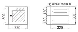 Çetinkaya - Çetinkaya / 12 Adet Sigorta + Pako Cam Kapaklı Sıvaüstü Dağıtım Panosu / ÇP 800 C