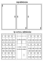 Çetinkaya - Çetinkaya / 12 Monofaze + 2 Trifaze Sıvaüstü Sayaç Panosu / ÇP 3412 S