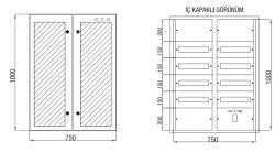 Çetinkaya - Çetinkaya / 120 Adet Sigorta+ 125A Kompakt Şalter Cam Kapaklı Sıvaaltı Dağıtım Panosu / ÇP 827 C