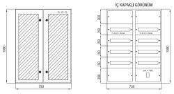 Çetinkaya - Çetinkaya / 120 Adet Sigorta+ 125A Kompakt Şalter Cam Kapaklı Sıvaüstü Sigorta Dağıtım Panosu / ÇP 807 C