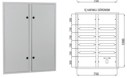 Çetinkaya - Çetinkaya / 120 Adet Sigorta+ 125A Kompakt Şalter Sıvaaltı Sigorta Dağıtım Panosu / ÇP 827