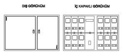 Çetinkaya - Çetinkaya / 15 Adet Monofaze Sıvaaltı Sayaç Panosu / ÇP 3315