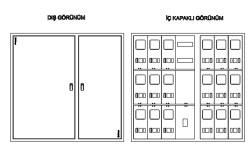 Çetinkaya - Çetinkaya / 15 Adet Monofaze Sıvaüstü Sayaç Panosu / ÇP 3315 S