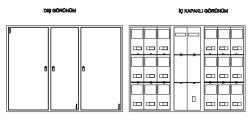 Çetinkaya - Çetinkaya / 15 Adet Trifaze Sıvaaltı Sayaç Panosu / ÇP 3215