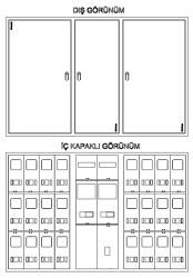 Çetinkaya - Çetinkaya / 18 Monofaze + 2 Trifaze Sıvaüstü Sayaç Panosu / ÇP 3418 S