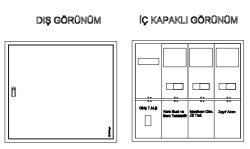 Çetinkaya - Çetinkaya / 2 Adet Trifaze Sıvaüstü Sayaç Panosu / ÇP 302 S