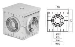 Çetinkaya - Çetinkaya / 20x20x20 Termoplastik 4 Çıkışlı Kapaklı Yeraltı Buatı / ÇP 202020