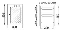 Çetinkaya - Çetinkaya / 24 Adet Sigorta + Pako Cam Kapaklı Sıvaaltı Dağıtım Panosu / ÇP 821 C