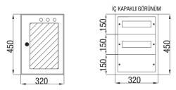 Çetinkaya - Çetinkaya / 24 Adet Sigorta + Pako Cam Kapaklı Sıvaüstü Dağıtım Panosu / ÇP 801 C
