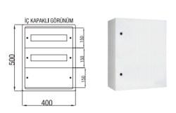 Çetinkaya - Çetinkaya / 30 Sigorta + Pako Polyester Dağıtım Panosu / ÇP 531