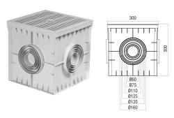 Çetinkaya - Çetinkaya / 30x30x30 Termoplastik 4 Çıkışlı Kapaklı Yeraltı Buatı / ÇP 303030