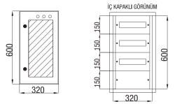 Çetinkaya - Çetinkaya / 36 Adet Sigorta + Pako Cam Kapaklı Sıvaaltı Dağıtım Panosu / ÇP 822 C