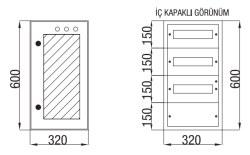 Çetinkaya - Çetinkaya / 36 Adet Sigorta + Pako Cam Kapaklı Sıvaüstü Dağıtım Panosu / ÇP 802 C