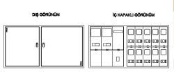 Çetinkaya - Çetinkaya / 4 Monofaze + 2 Trifaze Sıvaüstü Sayaç Panosu / ÇP 404 S
