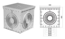 Çetinkaya - Çetinkaya / 40x40x40 Termoplastik 4 Çıkışlı Kapaklı Yeraltı Buatı / ÇP 404040