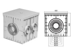 Çetinkaya -  Çetinkaya / 40x40x40 Termoplastik 6 Çıkışlı Kapaklı Yeraltı Buatı / ÇP 404042
