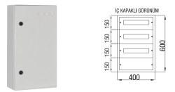 Çetinkaya - Çetinkaya / 45 Adet Sigorta + Pako Sıvaüstü Dağıtım Panosu / ÇP 803