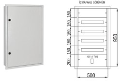 Çetinkaya - Çetinkaya / 80 Adet Sigorta+ 125A Kompakt Şalter Sıvaaltı Sigorta Dağıtım Panosu / ÇP 825