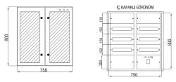 Çetinkaya - Çetinkaya / 90 Adet Sigorta+ 125A Kompakt Şalter Cam Kapaklı Sıvaaltı Dağıtım Panosu / ÇP 826 C