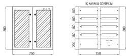 Çetinkaya - Çetinkaya / 90 Adet Sigorta+ 125A Kompakt Şalter Cam Kapaklı Sıvaüstü Sigorta Dağıtım Panosu / ÇP 806 C