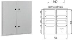 Çetinkaya - Çetinkaya / 90 Adet Sigorta+ 125A Kompakt Şalter Sıvaaltı Sigorta Dağıtım Panosu / ÇP 826