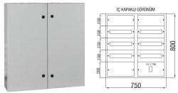 Çetinkaya - Çetinkaya / 90 Adet Sigorta+ 125A Kompakt Şalter Sıvaüstü Sigorta Dağıtım Panosu / ÇP 806