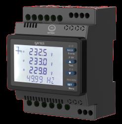 Entes - ENTES MPR-26S-21-PM DIN4 85-300VAC/DC 2 izole sayısal girişli, 1 Röle çıkışlı, RJ45'li Elektronik Şebeke Analizörü Şebele Analizörü