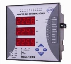 Entes - ENTES-RG3-12CS Reaktif Güç Kontrol Rölesi