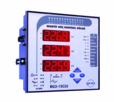 ENTES-RG3-15CL Reaktif Güç Kontrol Rölesi