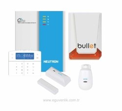 Neutron - Kablosuz Alarm Sistemi Paket (Kablolu Siren)