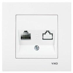 Viko - Viko Karre-Merıdıan Beyaz Tekli Nümeris Cat3